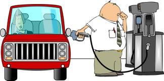 fillup benzyny Zdjęcia Royalty Free