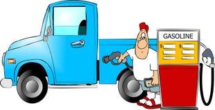 Fillup da gasolina ilustração stock