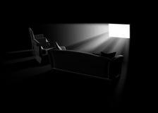 Film à la maison Image libre de droits