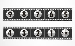 Film. Strips, countdown Royalty Free Stock Images
