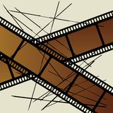Film. Old film on white background Royalty Free Stock Images