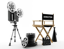 The film. Movie background and film industry Stock Photo