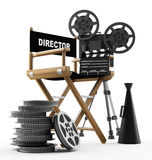 The film. Movie background and film industry Stock Photos