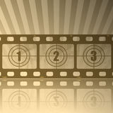 Film. Illustration of the film as abstract background Royalty Free Stock Photos