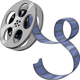 Film. On a white background, vector Royalty Free Stock Photo
