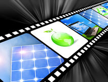 Film. Of global concept for green energy solutions Royalty Free Stock Images