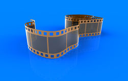 Film. 3d render of  film on a dark blue background Royalty Free Stock Images