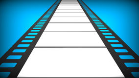 Film. 3d render of  path in the form of a film on a blue background Royalty Free Stock Photos