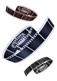 Film. Vector image of the braided film of various colours Royalty Free Stock Images