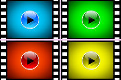 Film. Illustration of movie players. Film icon Stock Images