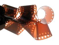 Film. Photo film on white background Royalty Free Stock Photo