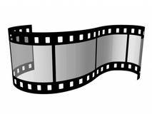 Film 35 mm. Film strip on the white background Stock Photos
