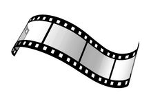 Film 35 mm. Film strip on the white background Royalty Free Stock Image