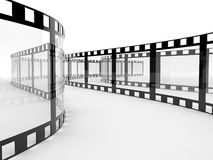 Film 3D. Film. 3d illustration on white background Stock Photography