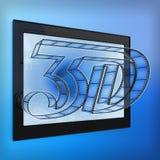 film 3d Images libres de droits