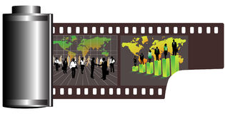 Film. Illustration of business film, green Stock Photography