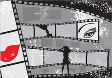 Film. Horizontal background vector illustration Stock Image