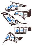 Film. Illustration of film, map, people Stock Image