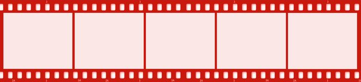 Film. Drawing of a film in red stock illustration