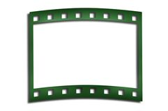 Film. Green film frame isolated on white Royalty Free Stock Images
