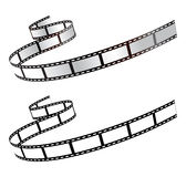 Film. Illustration of film strips (black & white Stock Image