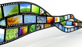 Film. Three film strips with photos Royalty Free Stock Photography
