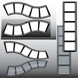 Film. Several film strips with reflections Stock Photo