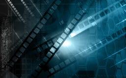 Film. Digital Illustration of film in backlight Stock Photos