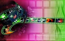 Film. Digital Illustration of film in backlight Royalty Free Stock Photos