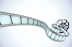 Film. Vector illustrator of movie reel with a strip of exposed frames Royalty Free Stock Photography