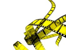 Film. On white background isolated Stock Photography