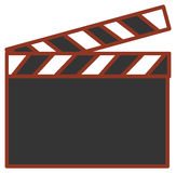 Film action clapboard Royalty Free Stock Photos