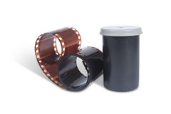 Film for analog photos. Container Royalty Free Stock Photography