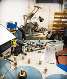 Film analoge het uitgeven machine voor 35 mm-filmsstudio Stock Fotografie