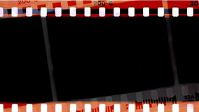 Film animation. Film burns in the center of the projection. Animation stock video footage