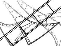 A film with another films on the background Royalty Free Stock Image