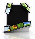 Film Around A Photograph Royalty Free Stock Images