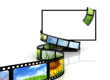 Film around blank TV Royalty Free Stock Images