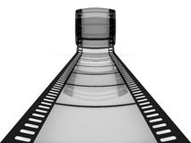 Film as a way to future. Filmstrip as a way to future Royalty Free Stock Image