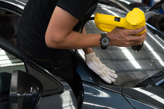Film automobilistici dei tecnici Fotografie Stock Libere da Diritti