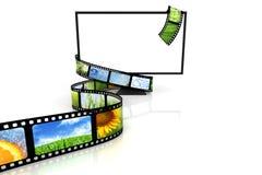 Film autour de TV blanc Photos stock