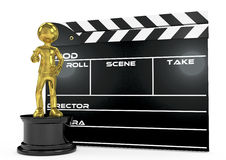 Film award and clapperboard Stock Photo