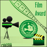 Film award Royalty Free Stock Images