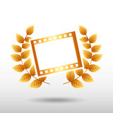 Film award design. Illustration eps10 graphic Royalty Free Stock Images