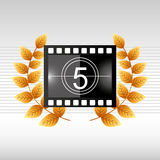 Film award design. Illustration eps10 graphic Royalty Free Stock Photography