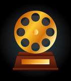 Film award  design. Illustration eps10 graphic Stock Image