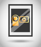 Film award  design. Illustration eps10 graphic Royalty Free Stock Photos