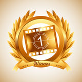 Film award. Design, vector illustration eps10 graphic Royalty Free Stock Photo