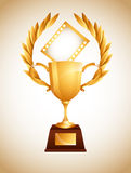 Film award. Design, vector illustration eps10 graphic Royalty Free Stock Photography