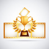 Film award. Design, vector illustration eps10 graphic Stock Photos